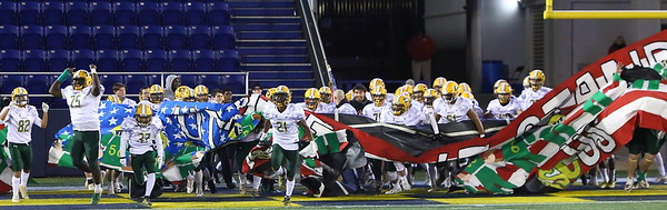 George P. Smith/The Montgomery Sentinel    Damascus takes the field at Navy-Marine Corps Memorial Stadium.