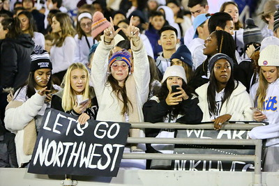 George P. Smith/The Montgomery Sentinel    Northwest High School student section.