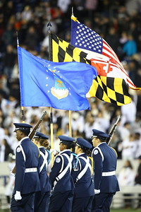 George P. Smith/The Montgomery Sentinel    Dr. Henry A. Wise, Jr. High School Air Force Junior Reserve Officers Training Corps Program (AFJROTC) Color Guard was at the Navy-Marine Corps Memorial Stadium for the 2019 State Class 4A Championship game between Wise and Northwest High Schools.