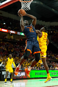 December 7, 2019 - 7' Kofi Cockburn of Illinois dominated the boards in the first half, helping to keep the Terps down 15 points. Maryland crawled back into the game and took the lead with seconds left. Photo by Mike Clark/The Montgomery Sentinel