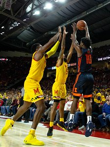 December 7, 2019 - Maryland's second-half defense clamped down on Illinois and created turnovers and missed shots. Photo by Mike Clark/The Montgomery Sentinel