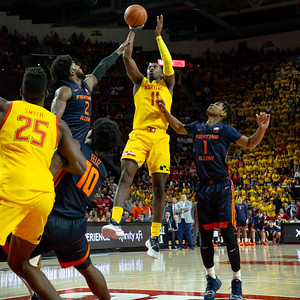 December 7, 2019 - Anthony Cowans, Jr. takes over the second-half to pull Maryland over Illinois and a perfect 10-0 record. Photo by Mike Clark/The Montgomery Sentinel