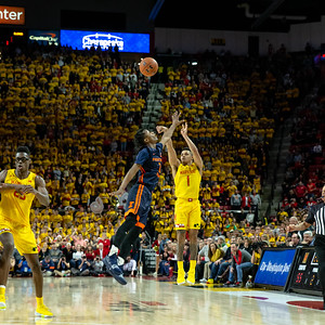 December 7, 2019 - In what be the shot of the early season, Anthony Cowan, Jr. launches this three-pointer to tie the game with Illinois with only 19 seconds left on the clock. Photo by Mike Clark/The Montgomery Sentinel