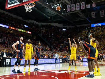 December 7, 2019 - The game winning free-throw, courtesy of Maryland's Anthony Cowan, Jr. with only 2.1 seconds left in an seamlingly impossible comeback from a 15-point Illinois lead. Photo by Mike Clark/The Montgomery Sentinel