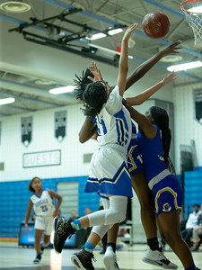 December 13, 2019 - The Laurel Spartan's defense largely shut-down the Blake Bengal offense in the second half and cruised to a 48-35 inter-county win at Blake High School on December 13. Photo by Mike Clark/The Montgomery Sentinel