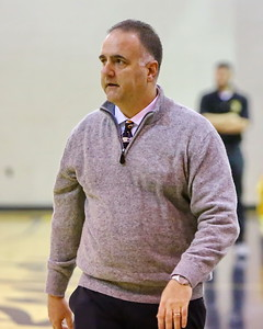 George P. Smith/The Montgomery Sentinel    Sherwood's head varsity boys basketball coach Tom Sheahin.