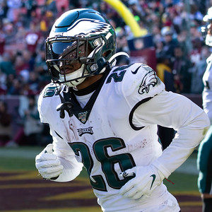 December 15, 2019 - The Washington Redskins came up short against the Philadelphia Eagles, thanks in part to Eagle's Running Back Miles Sanders who rushed for 122 yards and a touchdown. Photo by Mike Clark/The Montgomery Sentinel