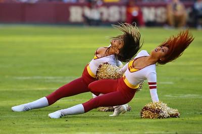 George P. Smith/The Montgomery Sentinel    Washington Redskin cheerleaders.