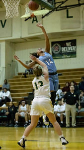 December 20, 2019 - The Clarksburg Coyotees were too fast for the Seneca Valley defense and fast breaks, like this one by Alanna Tate, helped Clarksburg win easily 93-47 on December 20. Photo by Mike Clark/The Montgomery Sentinel