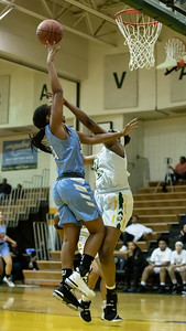 December 20, 2019 - Clarksburg's Kaleah Boykin led all scorers with 17 points in the 93-47 lop-sided game at Seneca Valley on December 20. Photo by Mike Clark/The Montgomery Sentinel