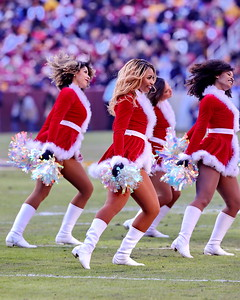George P. Smith/The Montgomery Sentinel    Redskins' cheerleaders in festive outfits.