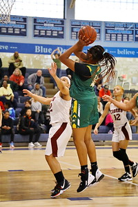 George P. Smith/The Montgomery Sentinel    Seneca Valley's Brianna Dorsey (41) with the jumper from just outside the paint.