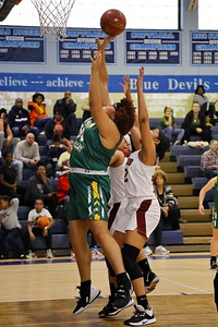 George P. Smith/The Montgomery Sentinel    Seneca Valley's Bryana Barber (50) puts the ball up from the post.