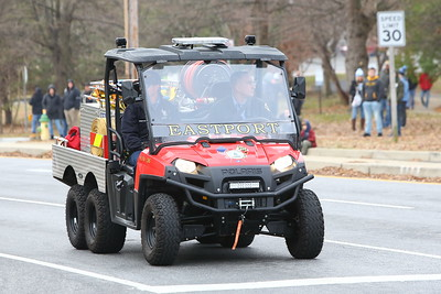 George P. Smith/The Montgomery Sentinel    Eastport Volunteer Fire Company in the 2019 Military Bowl Parade.
