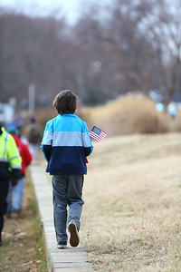 George P. Smith/The Montgomery Sentinel    A young spectator walking along the 2019 Military Bowl.