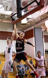 December 27, 2019 - Alex Parisotto paces the Quince Orchard Cougars with 20 points in the 73-49 win over Urbana in the December 27th David Griffin Tournament game at host Quince Orchard. Photo by Mike Clark/The Montgomery Sentinel
