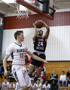 December 27, 2019 - Amir Gray of Quince Orchard gets an easy basket against Urbana. The Cougars jumped out to early lead and maitained at least a 22-point lead the entire game with QO winning 73-49 in the weekend David Griffin Invitational. Photo by Mike Clark/The Montgomery Sentinel