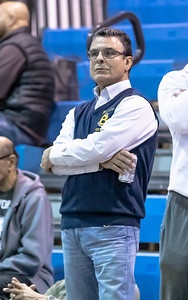 January 4, 2020 - Coach Ali Ellas watches his Bullis squad drops an important match  with host BCC and wound up fourth place in the Battkin Barons Duals January 3rd and 4th. Photo by Mike Clark/The Montgomery Sentinel
