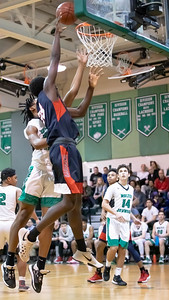 January 13, 2020 - Wootton's Kobe Frimpong drops in this lay-up that extended Wootton's lead to 10 points. Walter Johnson would later wipe out that lead and go up by three points before Wootton could seal the 64-63 win. Photo by Mike Clark/The Montgomery Sentinel