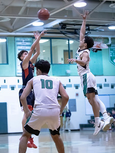 January 13, 2020 - Wootton's Will Margarites could not be stopped by the Walter Johnson defense. Here he drains a three-pointer in route to a 20-point performance and the 64-63 come-from-behind last second win after a late-game Walter Johnson surge.  Photo by Mike Clark/The Montgomery Sentinel