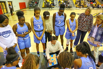 George P. Smith/The Montgomery Sentinel    Clarksburg head coach Sissy Natoli during a time out.