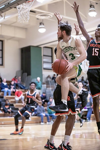 January 17, 2020 - Britton Gottfredson of Damascus finds a small hole in the agressove Rockville Rams defense for this score but the Rams limited Damascus to only 47 points in the 60-47 loss at home on January 17. Photo by Mike Clark/The Montgomery Sentinel