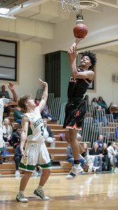 January 17, 2020 - Jailen Anderson of Rockville drops in two of his 11 points to help pull away from home team Damascus and cement the 60-47 win. Photo by Mike Clark/The Montgomery Sentinel