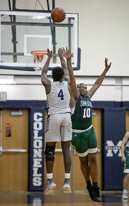 January 3, 2020 - Magruder's Chris Asamoah was deadly from beyond the arc - making six three-pointers and 23 points total in their dominating 95-63 win over Damascus at home on January 3rd. Photo by Mike Clark/The Montgomery Sentinel