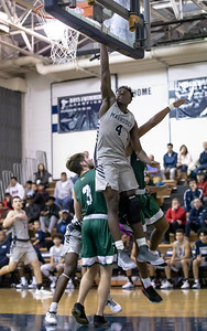 January 3, 2020 - Magruder's Chris Asamoah lays in two of his 23 points total in their dominating 95-63 win over Damascus at home on January 3rd. Photo by Mike Clark/The Montgomery Sentinel