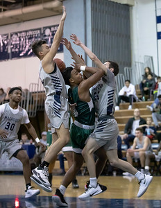 January 3, 2020 - The Damascus Hornets could not get past the pressing and agressive defense of the Magruder Colonels on January 3rd at Magruder. Photo by Mike Clark/The Montgomery Sentinel