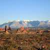 La Sal mtns from Arches NP