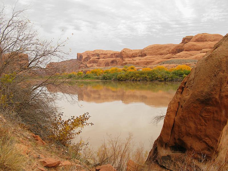 Colorado river along potash road
