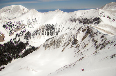 La Sal Mountain Skier