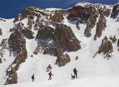 La Sal Mountain Chute Skiers
