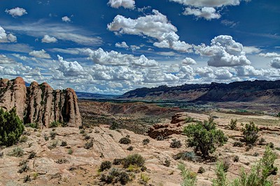 Slickrock area looking out over Moab Utah