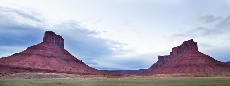 Twin Mesas in Moab