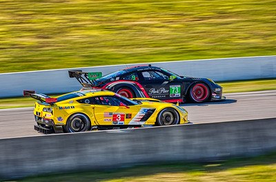 2019 Mobil 1 SportsCar Grand Prix @ Canadian Tire Motorsport Park - Antonio Garcia and Jan Magnussen in the #3 Chevrolet Corvette C7.R - Corvette Racing AND Patrick Long and Patrick Lindsey in the #73 Porche 911 GT3 R - Park Place Motorsports