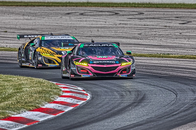 2019 Mobil 1 SportsCar Grand Prix @ Canadian Tire Motorsport Park - Mario Fambacher and Trent Hindman in the #86 Acura NSX GT3 - Meyer Shank Racing w/ Curb-Agajanian AND Katherine Legge and Bia Figueiredo in the #57 Acura NSX GT3 - Meyer Shank Racing w/ Curb-Agajanian