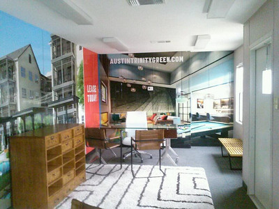 Inside walls of Mobile office designed by SkinzWraps for ZRS Management