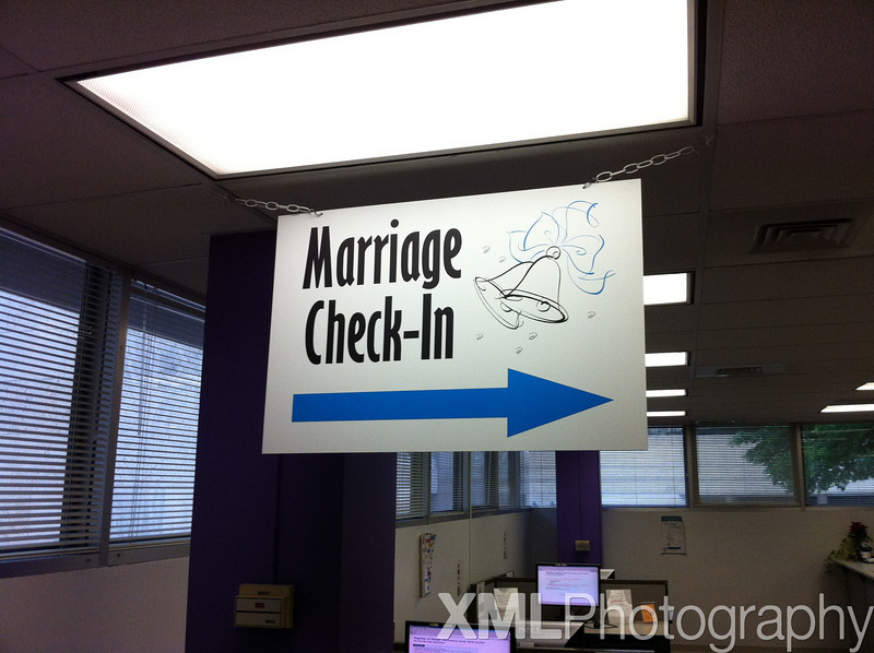 Getting our Marriage License