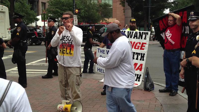 Street Preacher at the 2012 DNC.
