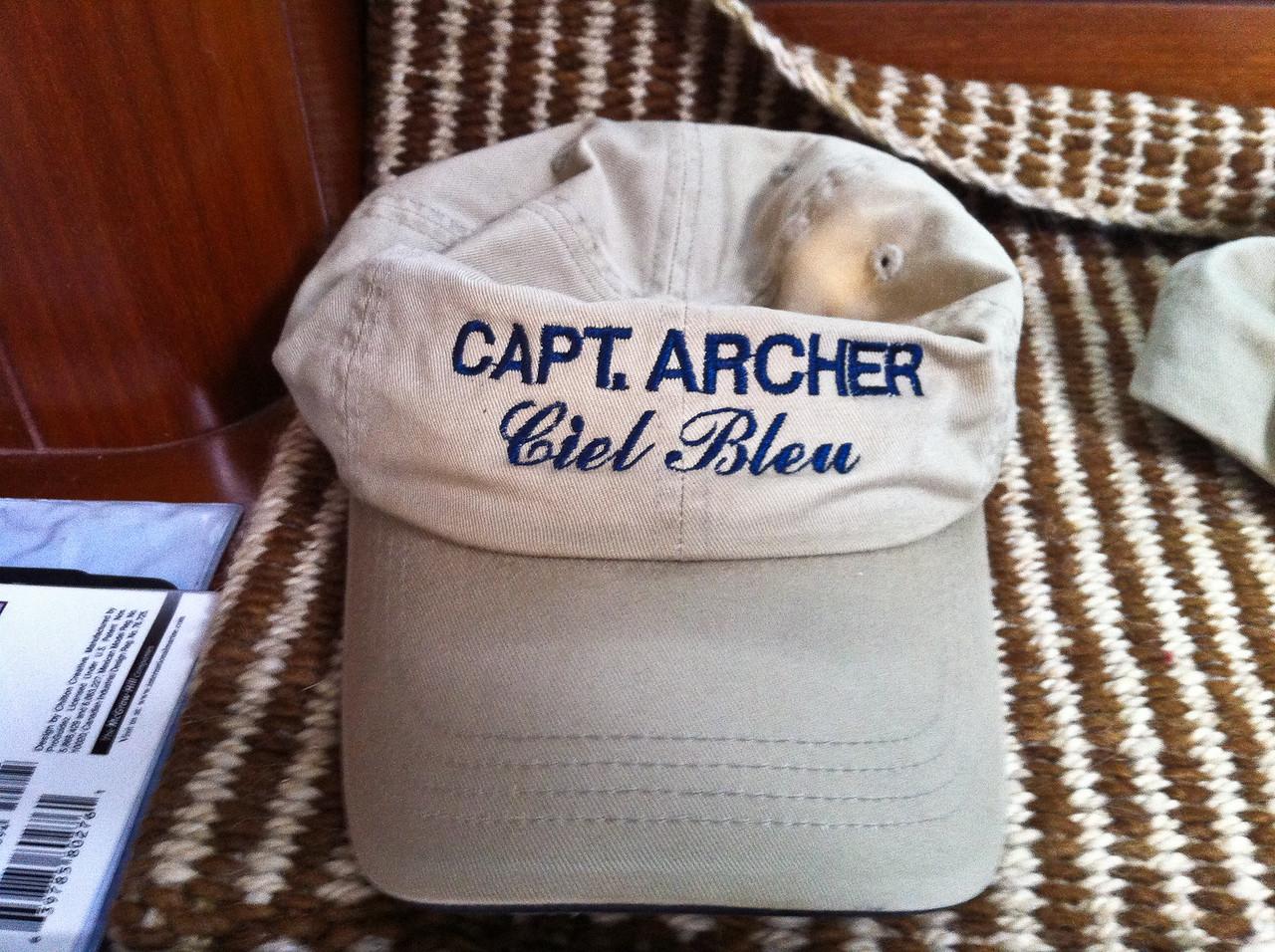 Captain's Cap:<br /> Capt. Archer<br /> Ciel Bleu