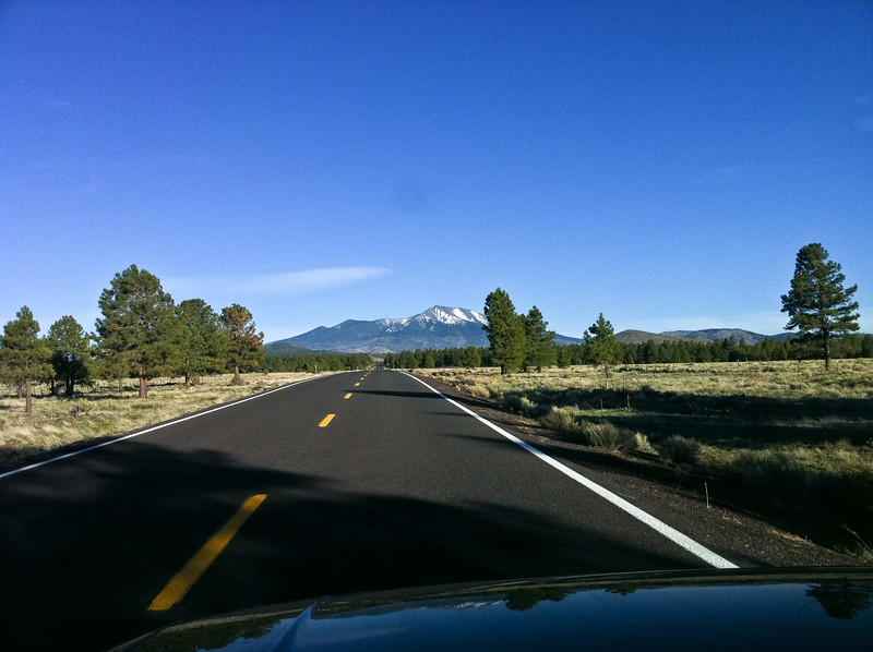 Driving towards Mount Humphries