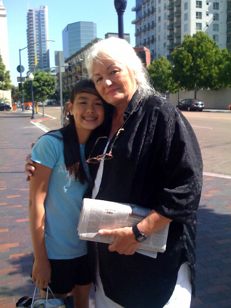 Back in San Diego, one of my daughter's friends visited from Maryland. She left us for two days to visit her grandmother in Los Angeles.