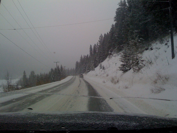 Winter roads in BC
