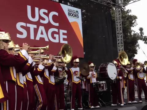 USC Band at LA Book Festival 04/22/12