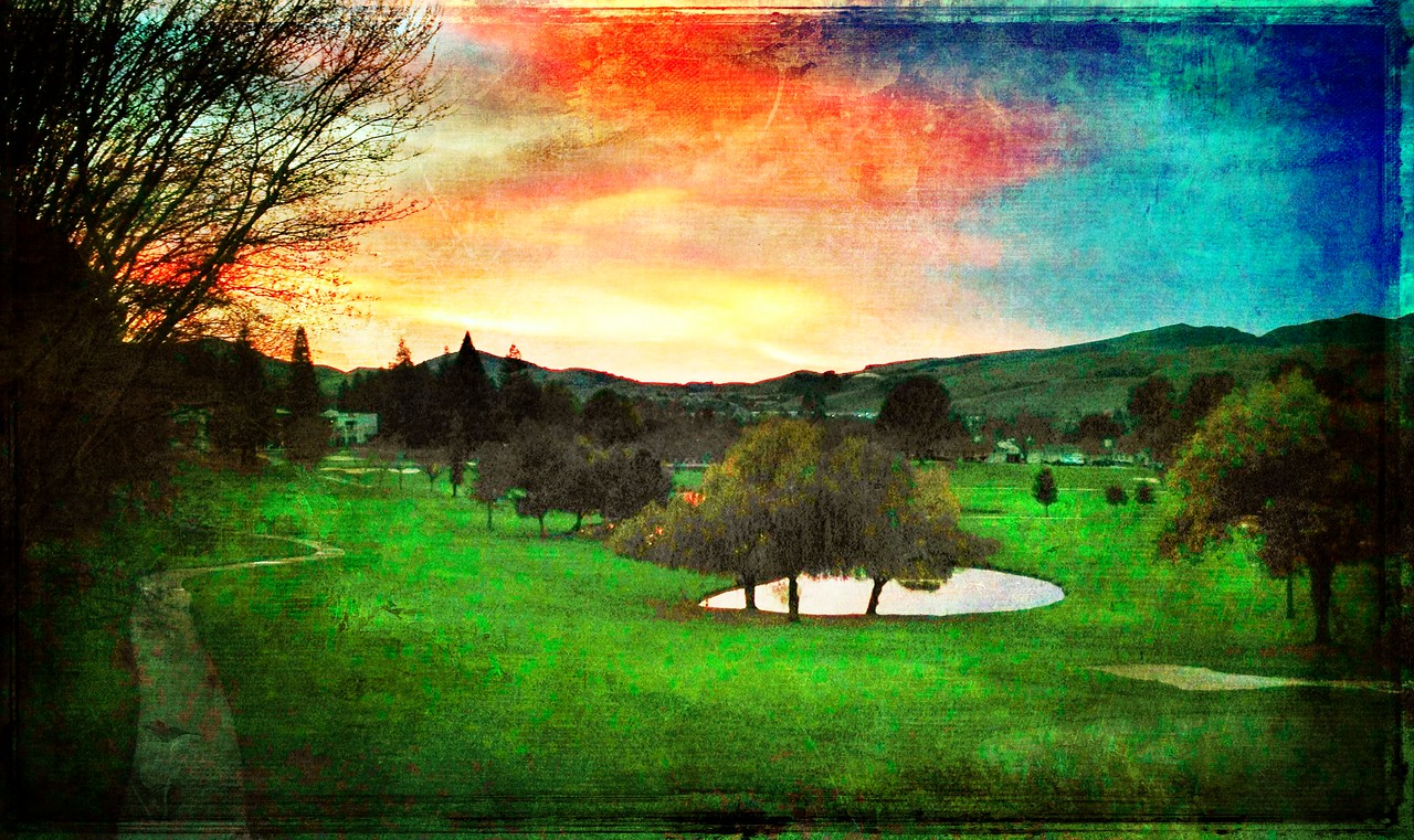 It was a cool sunset tonight. I just happen to catch it as I was leaving the house to do New Year's Eve. So i went across the street and snapped this and processed it in camera awesome. Happy new year everybody!