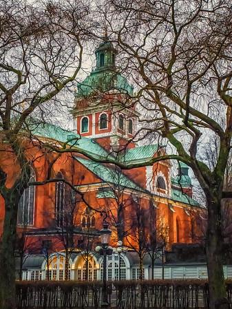 Stockholm Church in Winter