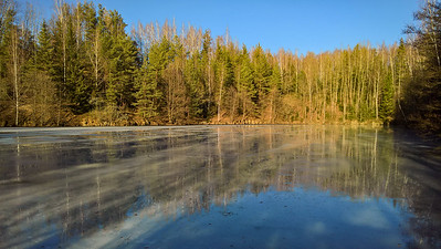 Ending winter in a flooded quarry
