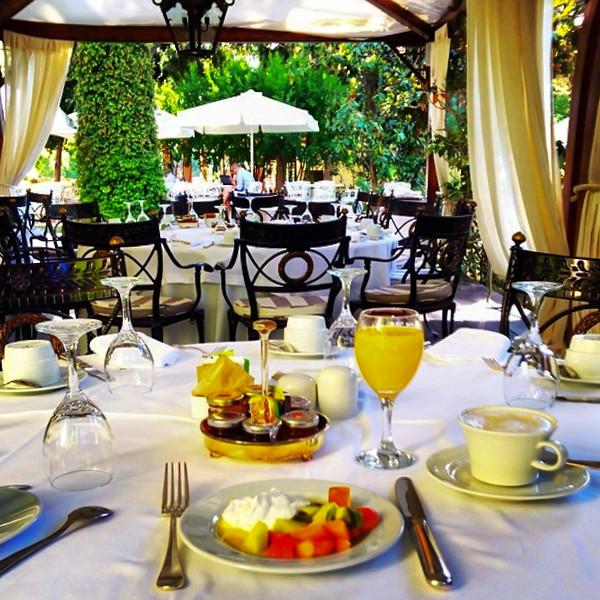 Breakfast in the sunshine